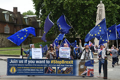 Img634680nxi_conv (veryamateurish) Tags: london westminster parliament housesofparliament abingdonstreet demonstration protest eu europeanunion brexit flags