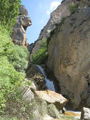 not so little waterfall (squeezemonkey) Tags: climbcatalunya yogaandclimbing climbingtrip catalunya spain abelladelaconca rockpools waterfall boulder