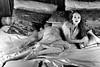 Bed time (piotr_szymanek) Tags: kasia kasiat woman milf young skinny blackandwhite portrait studio castle czocha face eyesoncamera dress transparent bed boudoir legs feet freckles 1k 20f 50f 5k 10k 100f fromabove 20k