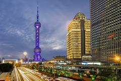 Oriental Pearl - Lujiazui (Tony Shi Photos) Tags: shanghai china asia bund city urban architecture buildings landmark cityscape lujiazui orientalpearl tower pingan illuminated