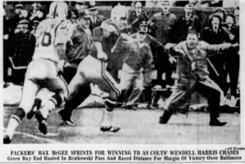 Packers' Max McGee springs for winning TD