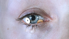(don't) ask. (laura zalenga) Tags: paillette eye gold golden face selfportrait ©laurazalenga skin star pain tear cry forced emotion emotionless closeup nophotoshop