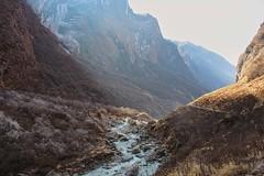 Modi Khola (cecpha) Tags: nepal mountains river sunrise landscape trek photography himalayas himalaya winter