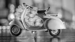 Old Vespa (YᗩSᗰIᘉᗴ HᗴᘉS +17 000 000 thx) Tags: vintage toy vespa old object bokeh blackandwhite bw noiretblanc hensyasmine namur belgium europa aaa namuroise look photo friends be wow yasminehens interest intersting eu fr greatphotographers lanamuroise tellmeastory flickering 7dwf macro