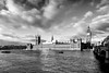 Palace of Westminster (Derwisz) Tags: palaceofwestminster housesofparliament london thames riverbank gothicrevival neogothic england unitedkingdom canon canoneos40d blackwhite blackandwhite monochrome city cityscape