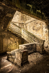 De Facto Series (2018) | Light Beam (James Kerwin Photographic) Tags: composition jameskerwin canon fineart imagery landscape photography stairs soviet abhkazia golden architecture rubble eurasia abandoned benro 5dsr tenba history black photoshop lightroom light lightleak details
