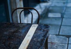 After the rain (Celtis Australis) Tags: table pavement urban smctakumar50mmf14 pentaxk50 lines patterns rain mood dusk raindrops moody