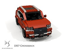 DS Automobiles DS7 Crossback (2018) (lego911) Tags: citroen ds automobiles ds7 crossback cuv crossover 4x4 4wd awd wagon luxury 2018 2010s france french auto car moc model miniland lego lego911 ldd render cad povray