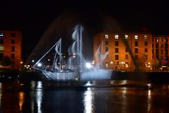 Ghost Ship  (In explore) (Trev Green) Tags: ghost ship boat night nikon liverpool albertdock