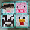 Complete the quilt! (osiristhe) Tags: cat dizzy quilt sewing quilting nikond5100 18200mm minecraft