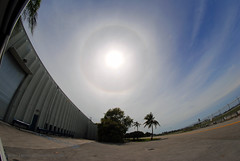 Solar Halo (Infinity & Beyond Photography) Tags: sun solar halo sundog cirrus clouds sky skies 8mm samyang fisheye
