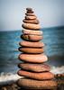 balance (*BegoñaCL) Tags: piedras mar agua mediterráneo horizonte playa begoñacl
