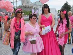 Campaign for Japan (Paula Satijn) Tags: hot pink girl lady dress gown ballgown skirt fuchsia bight gurl tgirl satin silk silky shiny outside girly feminine elegant style happy joy smile happiness fun pinkmonday tilburg friends