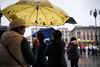 Milano Street Walking - Yellow (In.Deo) Tags: milano lombardia italy street piazzaduomo umbrella rain