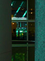 Three Reflections (Eshke04) Tags: three reflections windows coffee shop light architecture people life tree roof pillars between shinagawa tokyo lines perspective shadow