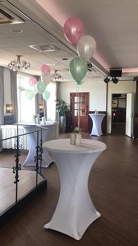 Tafeldecoratie 3ballonnen. Citta Romana Hellevoetsluis