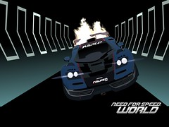 need for speed world (haymrk) Tags: need for speed world mclaren f1 blast drawing illustration poster vectors