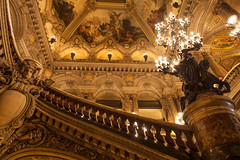 flamboyance 法式奢华 (nzfisher) Tags: baroque elaborate architecture building 24mm candle stair ceiling statue interior palaisgarnier canon france paris holiday travel decoration opera curve flamboyance luxury