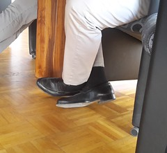 Hidden Camera - Loafers of the Manager! (+VIDEOLINK) (TBTAOTW2011) Tags: hidden camera candid shot under table meeting management businessman business man suit bear beefy daddy dad old mature glasses socks feet foot black leather dress shoe shoes loafer loafers sole soles lick licking humiliation director manager