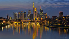 Night Lights of Frankfurt (oliver.herbold) Tags: skyline frankfurt mainhattan germany deutschland evening abend hafenpark photography fotografie sunset sonnenuntergang colors farben sky himmel fluss river main reflections spiegelung spiegelungen light lights licht lichter bluehour longexposure langzeitbelichtung filters neutraldensityfilter filter ndfilter polariser grad graduated verlauf verlaufsfilter oliverherbold
