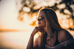 Thoughtful (jarnasen) Tags: nikon d810 sigma85mmf14 handheld freehand girl portrait sunset dusk silhuette sweden sverige ekängen roxen daughter copyright järnåsen jarnasen geo geotag mood atmosphere gallery
