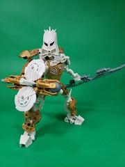Toa Solek (TuragaNuva) Tags: lego bionicle light white gold avmatoran sword shield moc