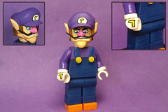 Custom Lego Waluigi (Brickophilia) Tags: custom lego minifigure mario kart nintendo waluigi