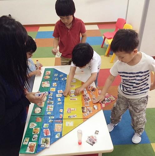 Let's talk about the food pyramid! Are you eating a balanced diet? Cheers to good health 🍎 #preschool #kindergarten #tokyo #shibakoen #minato #healthyfood #foodpyramid #東京 #芝公園 #港区 #保育園 #幼稚園 #遊ぼう