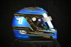 Custom Painted Arai SK-6 (veneratiodesigns) Tags: custom racing helmet painting design veneratio designs candy blue paint daytona beach florida