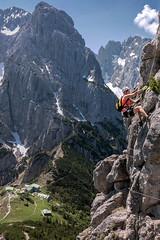 Climbing The Stripsenjoch (Bergfex_Tirol) Tags: bergfex austria autriche österreich oesterreich oostenrijk alpen alps alpes abenteuer adventure herausforderung challenge klettersteig viaferrata fixedroperoute felswand cliff fels rock sport bergsport mountaineering klettern climbing stripsenjoch totenkirchl