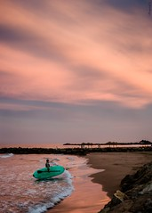 enough (*BegoñaCL) Tags: surfer mar mediterráneo horizonte hombre atardecer color playa arena agua begoñacl