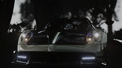 Assetto Corsa // Pagani Huayra BC (ВimShishkin) Tags: assetto corsa pagani huayra bc car forest fog night brakelight brake