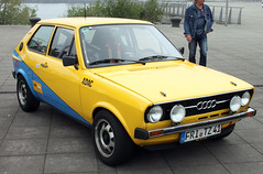 Little Audi (Schwanzus_Longus) Tags: bremen waterfront german germany old classic vintage car vehicle compact hatchback audi 50 vw polo rally rallye motorsport