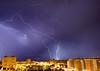 Tormenta sobre la bahía de Palma (carloscarriónsánchez) Tags: tormenta rayos truenos relampagos mallorca nubes palmademallorca storm lluvia rain nigth thunderbolt