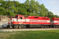 Glinty Red (AndyWS formerly_WisconsinSkies) Tags: train railroad railway railfan wisconsinandsouthern wsor watco wamx emd gp392 locomotive