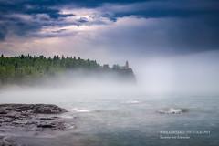 Foggy morning (susannevonschroeder) Tags: lakesuperior clouds fog lighthouse longexposure northshore spring minnesota splitrock statepark hiking outdoors