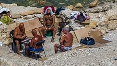 * (Timos L) Tags: street life cards player beach men tanned beirut lebanon corniche olympus em5ii panasonic 123528 timosl summer