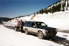 Homeward Bound (twm1340) Tags: april 1995 canyonlands motorcycle trip 1983 chevy chevrolet s10 blazer tahoe 4x4 trailer co colorado