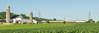 18-3524cr 3x1 (George Hamlin) Tags: pennsylvania west gap railroad passenger train amtrak atk 605 keystone service amfleet coaches siemens acs64 sprinter electric locomotive overhead catenary 614 farm barn silos crop plants agriculture corn field sky green blue photo decor george hamlin photography