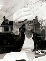 Trapped in a reflection (Something Sighted) Tags: streetphotography scènederue blackandwhite noiretblanc reflections newtown buckscounty pennsylvania