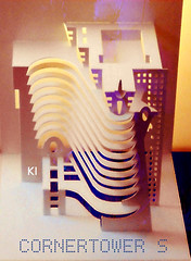 CORNERTOWER S (kiridarchi) Tags: kirigami popup architecture maquette papier folding photo origami corner tower