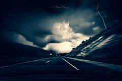 A89 (Stéphane Sélo Photographies) Tags: bw france nb noiretblanc paysage pentax pentaxk3ii rhône sigma1020f456 automobile autoroute blending fineart foudre landscape orage éclair
