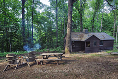 Cabin and Campsite, 2018.05.12 (Aaron Glenn Campbell) Tags: norrisdam statepark tn tennessee tennesseestateparks andersonville andersoncounty rustic cabin campsite sunlight shadows outdoors nature optoutside 3xp ±2ev hdr macphun aurorahdr2017 nikcollection colorefexpro viveza sony a6000 ilce6000 mirrorless rokinon 12mmf2ncscs wideangle primelens manualfocus emount