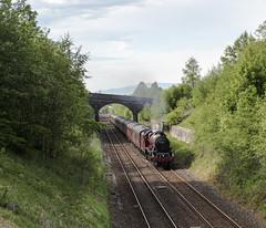 Station Site (4486Merlin) Tags: galatea 45699 cumbria england europe exlms heritagerailways lms6p5fjubilee northwest railways settlecarlislesc steam transport unitedkingdom grosbygarrett gbr thehadrian rytc wcrc