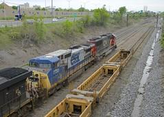 GECX 7733 (Michael Berry Railfan) Tags: cn canadiannational cn149 train freighttrain intermodaltrain stacktrain doublestacks cofc lachine montreal montrealsub quebec sd60 emd cn5466 gecx7733 gecx ge generalelectric dash840cw cn2237