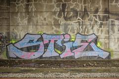 Stie Dissed (NJphotograffer) Tags: graffiti graff new jersey nj trackside rail railroad bridge stie fh crew cbs beef diss dissed