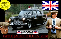 British Cars tweed jacket photos 2018 part 23 (The General Was Here !!!) Tags: car auto nz kiwi cap coat jacket mens old older fashion retro canon outdoor driving vintage tweed houndstooth 2018 dapper oldman wearing blazer plaid distinguished ride run veteran timer british uk scottish english country cars autos vehicles show club rally parade police policecar cop ford mk1 newzealand vintagecarclub queensbirthday june oldcar southisland classiccars headlight windscreen wheels chrome alt silverfox menswear weartweed