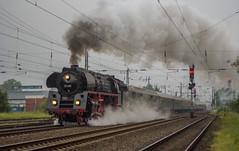 Früher Morgen (Klaus Z.) Tags: eisenbahn kbs 395 güterbahnhof leer br 01 519 personenzug sonderzug dampflok westfalendampf