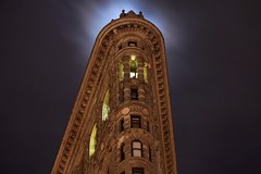 Moonlight (Barulio_Slim) Tags: nightphotography photography architecture artdeco flatiron newyork nyc moon