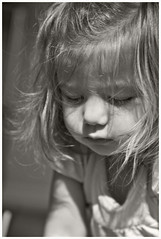 Grand Daughter # 25 2018; (hamsiksa) Tags: children child infants toddler girl littlegirl twoyearold terribletwos granddaughter blackwhite portrait candidportrait informalportrait blackwhiteportraits portraitsofchildren family generations time